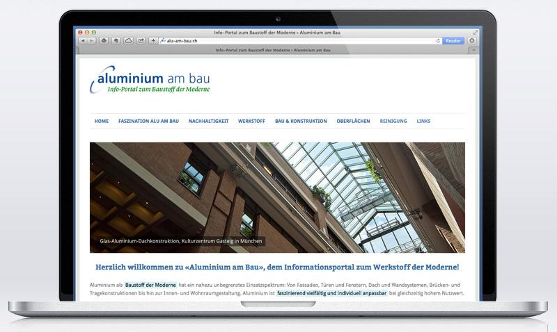 Infoportal Aluminium am Bau